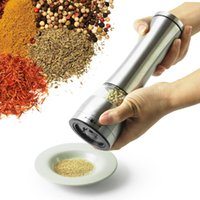 Wholesale ePacket Salt and Pepper Grinder Pepper Mill Spice Grinder Kitchen Tools Stainless Steel for Hotel Home Restaurant