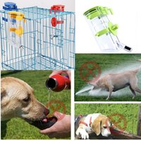 Wholesale Top Quality Pet Dog Water Drinker Dispenser Food Stand Deluxe Feeder Dish Bowl Bottle Feeding Top Fill Water Bottle Drinker