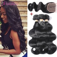 Cheap 7a Unprocessed Brazilian Hair Body Wave With Closure Body Wave Brazilian Hair Weaves Natural Color Silk Base Closures With Hair Bundles