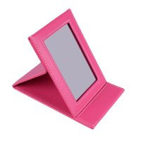 Wholesale Hot Colors NEW Portable Makeup Mirror Travel Leather Desktop Strong Foldable Folding Table Mirrors Cosmetic Vanity Stand Mirror