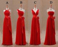 designer tights - Red Champagne Bridesmaids Dresses Uk Tight Pleats Elegant Bow Knot Chiffon Long Designer Plus size Bridesmaid Party Dresses