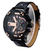 big face mens watch - Watches Men DZ Luxury Brand Leather Strap Fashion Casual Watches Men Japan Quartz Wristwatches Mens Big Face Relojes Hombre