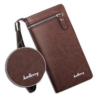 big faux leather clutch - Baellerry brand wallet men long man wallets leather male clutch Top Quality big purse money bag strap vintage cellphone bag