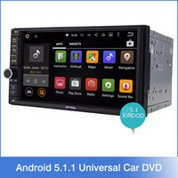 best car dvd - 7 quot Android Lollipop Universal Car Radio Quad Core HD Car GPS Navigation Best Head Unit Car DVD Player