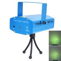 Wholesale USA Mini Laser Stage Light Holiday Sale Mini Laser DJ Party LED Lighting Disco Dance Floor Lights bulbs lamps E02465