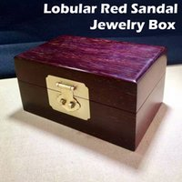 beauty jewelry storage - Finest quality solid wood jewelry storage box Authentic Natural Wild Lobular Red Sandalwood of indian with full Venus valued beauty gift
