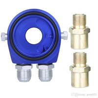 Wholesale Universal Car Auto Aluminum Oil Temperature Pressure Filter Cooler Sandwich Adapter Relocation Kit AN10