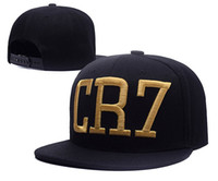 baseballs ronaldo - New Cristiano Ronaldo CR7 Gold Letter Black Baseball Caps hip hop Sports Snapback cap hat chapeu de sol bone Men