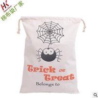 Wholesale Gift Bag Souvenir Bag Hallowmas Canvas Bag Drawstring Bags Cotton
