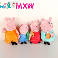 Cheap Pink Peppa George Pig Dolls Family Lovely Pig plush toys Pigs Dolls Cartoon Stuffed Plush Toy Cartoon Pig Stuffed Toys Free Shipping