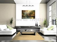 avenues hand painted - 24x36 inch Thomas Kinkade Evening At The Avenue Hand Made Oil Painting On Canvas Landscape Pictures For Home Living Room