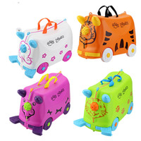 Wholesale LNL Children can ride a suitcase Bella s toy baby can sit korah travel cases of child suitcases more authentic
