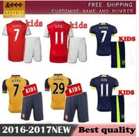 arsenal youth soccer - Best quality kids Arsenal soccer jersey Kits ALEXIS WILSHERE GIROUD CHAMBERS OZIL chilld youth football shirts