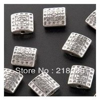 bali silver connectors - Fashions Bali Style Antiques Silver Flower Square Connectors Beads DIY Jewelry mmx10mmx3 mm C336