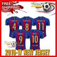 best m - New Best Quality BARCELONAIZERS shirts Soccer MESSI NEYMAR JR SUAREZ PIQUE HOME Custom shirt