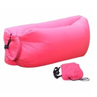 Wholesale In stock Inflatable Air Bag Beach Sleeping Bed Air Sofa For Camping Hiking s Outdoor Sleeping Bags days shipping