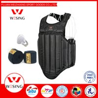 Wholesale 2016 MMA boxing sanshou Chest Guard Pad Muay Thai kickboxing chest Protector Breast Boxing Karate Taekwondo Kickboxing Training