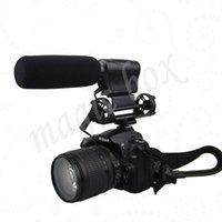 Wholesale NA Q7 Shotgun DV Stereo Video Microphone Mic for Canon D D D D D D D Mark II III Nikon D5100 D7000 D3000 DSLR