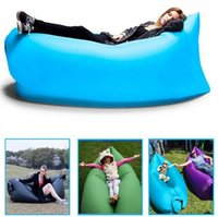 Wholesale 9 Colors Fast Infaltable Sleep Bag Seconds Quick Open Lazy Sleeping Bed Lamzac Hangout Air Sleep Camping Bed Kaisr Beach Sofa Loung