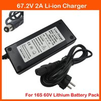 Cheap Hot sale 100-240V 50-60Hz 67.2V 2A 60V 2A Li-ion Charger RCA Port 60V Power adapter for 16S 60V lithium Electric Bike battery