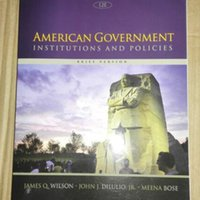 american education book - 2016 new book American Government Institutions and Policies