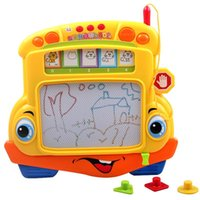 Wholesale Fun Bus Tablet Toys Children Magnetic Drawing Board