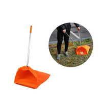 aluminum garbage cans - 60pcs Foldable Aluminum Pole Garbage Pick Up Long Reach Helping Portable Cleaning Laptop Dustpan Can Corner Home Gardon Cleaner Tools ZA0874