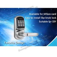 Wholesale Electric door lock Smart Digital Keyless Electronic Keypad Password Code Door Lock with key ID card