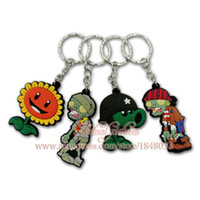 animal cells plant - 100pcs Hot Sale Plants vs Zombies D Cartoon PVC Key Ring Keychains Cell Phone Charm Party Supplies Gift kids Parts gift