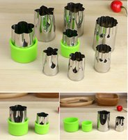 Wholesale Vegetable Slicer Holder Cut Into Pieces with Various Flowers Food Processor Set Of cutter fruit vegetable tools Kitchen Accessories