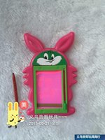 Wholesale Creative mini note plate Can be reused erase cartoon Rabbit message book Z864