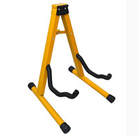 Wholesale Yellow type A Guitar stand musical instrument parts FOR classic acoustic guitar electric guitars and bass ukulele Violin cello