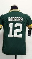 aaron rodgers authentic jersey - 2016 GBP Aaron Rodgers Youth Football Jerseys Best quality Authentic Jersey Size S M L XL Mix Order