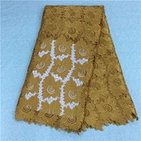 Wholesale french lace fabric african swiss voile lace high quality african cord lace guipure lace fabric
