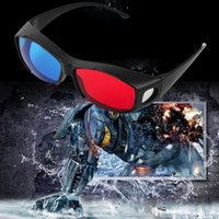 Wholesale 3D Eyewear Accessories TV Movie Dimensional Anaglyph Video Frames Glasses DVD Game Anaglyph Plastic Frames