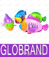 animal walking on water - LAI fish gills and tail will move on the chain clockwork colorful fish swim in water walk on road children toy baby toys