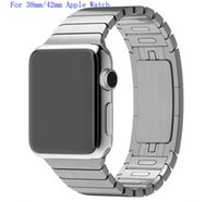 apple stainless - band for apple watch link bracelet copy L stainless steel watchband for iwatch mm
