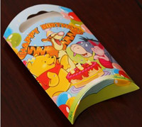 Cheap 20Pcs lot Winnie the pooh theme cartoon pattern paper gift bag for child kids birthday festival party supplies candy bag