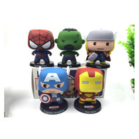 american film action - The avengers alliance Animation cartoon film cat q version cute the hand do spider man American captain iron man doll action figures