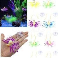 Wholesale Snail Aquarium Decoration Artificial Glowing Effect Fish Tank Ornament Colorful