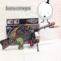 army manual - LED Flashing Projector Gun Model Army Green Gun Pistol Toys For Kids Gun Toys Manual Mode