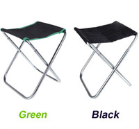 Wholesale NEW Portable Folding Chair Outdoor Camping Fishing Chair Aluminum Oxford Cloth Chair with Carry Bag