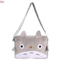 bags cat toys - Totoro Cartoon Cat Crossbody Bags Plush Phone String DOLL Plush Bag Purse Cute Gray Shoulder Bag Pendant TOY Gift Coin Kawaii Bag SV115311