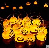 Wholesale Halloween Decoration Party light v V Pumpkin Led String Light Lamp Holder Bar Decoration Fairy lights Christmas Festival Lamp