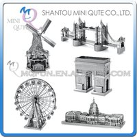 arch metal buildings - DHL Piece Fun D World architecture Arch of Triumph Ferris Wheel Dutch Windmill Metal Puzzle adult models educational toy