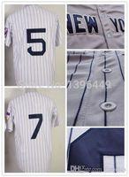 big joe - 2015 New Cheap New York Joe DiMaggio Mickey Mantle Jersey authentic Baseball Stitched Logos Cool Base Jersey Big size