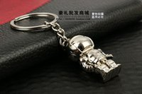 asimo robot - 100pcs New Hot Novelty Asimo Robot Keychains Metal D Robot Car Key rings for Promotion by FEDEX