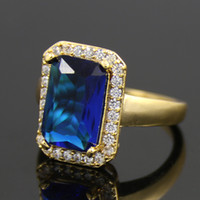 australia engagement rings - Luxury High New Fashion Western Africa Dubai Australia Jewelry Ring K Gold Plated For Women Wedding Engagement Party Giving Gift P
