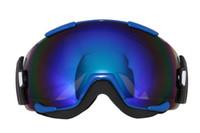 Wholesale 2016 new Outdoor brand snowboard goggles professional double anti fog big spherical ski glasses snow Sport motocross eyewear