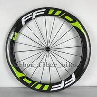 Wholesale A pair wheelset carbon mm clincher road wheel mm width bicycle fiber wheels with Novatec